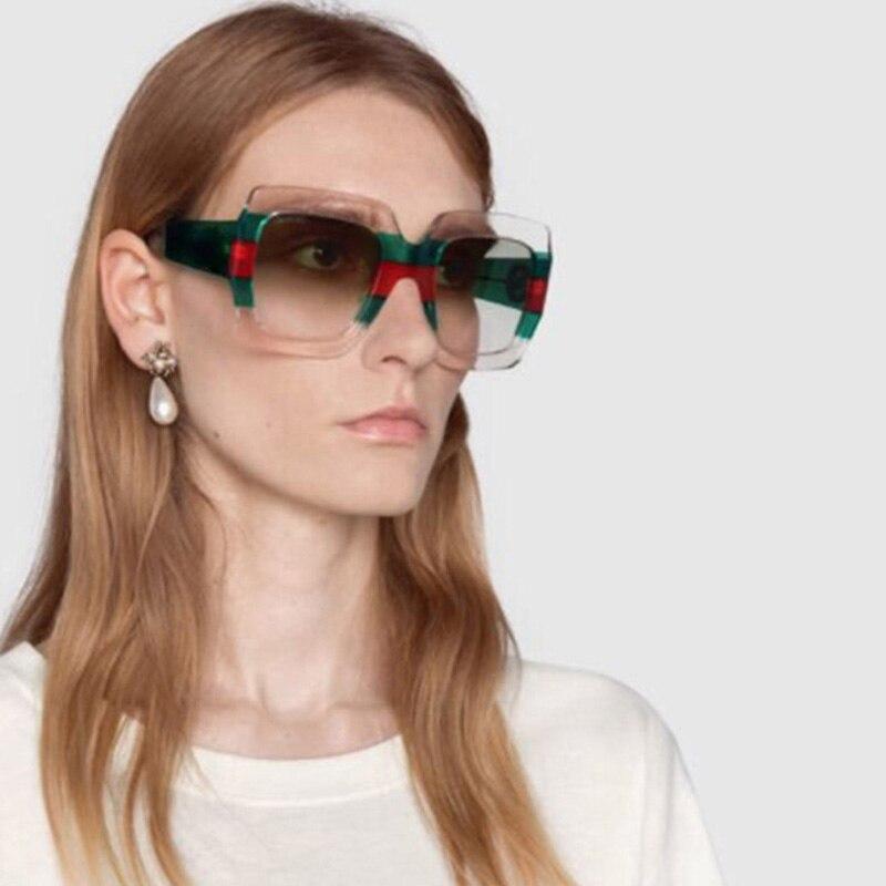 Oversized Sunglasses Women 2019 Brand Designer Vintage Square Sun Glasses Fashion Luxury Retro Sunglass Female Shades for Women