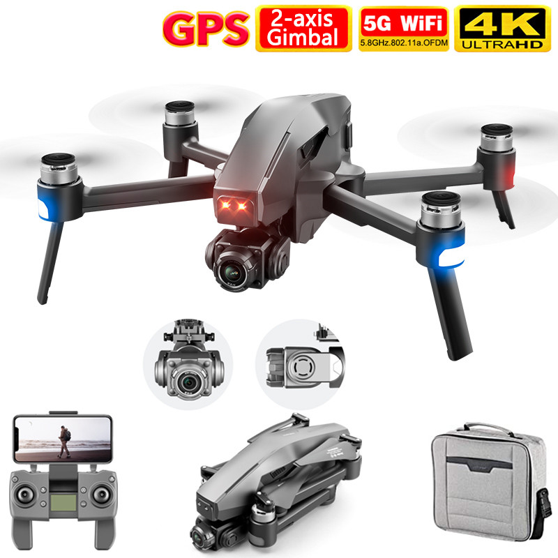 2021 M1 Pro 2 drone 4k HD mechanical 2 Axis gimbal camera 5G wifi gps system supports TF card drones distance 1.6km|RC Helicopters| - AliExpress