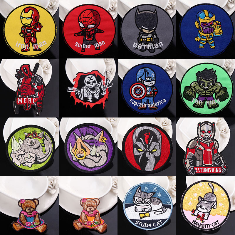 Pulaqi Diy <font><b>Marvel</b></font> Accessories Iron On <font><b>Patches</b></font> On Clothes <font><b>Patch</b></font> <font><b>Clothing</b></font> Embroidered Iron Man <font><b>Patches</b></font> Sticker Cartoon <font><b>Patch</b></font> Strip image