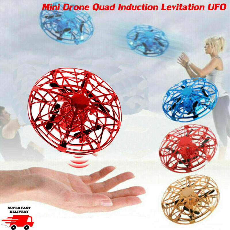 Mini Drone Quad Induction Levitation UFO LED Light USB Charging Kids Gift Toy