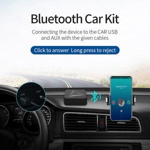 Image 4 - Odbiornik Bluetooth 5.0 nadajnik 3.5mm AUX Jack muzyka bezprzewodowy Adapter Audio połączenie bezprzewodowe i mikrofon NFC zestaw samochodowy do telewizora Auto ON