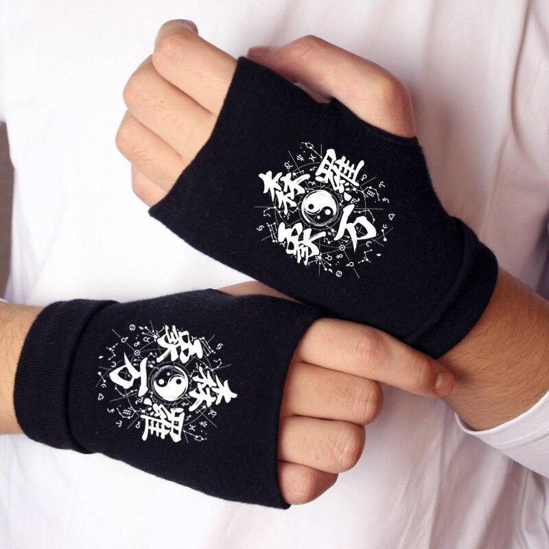 Mittens Knitting-Gloves Onmyoji Warm SCP Winter Cosplay-Accessory-Props Half-Finger Cotton