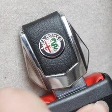 รถความปลอดภัยหัวเข็มขัดคลิปใส่ปลั๊กคลิปคุณภาพดีรถที่นั่งเข็มขัดหัวเข็มขัดสำหรับ Alfa Romeo Spider Giulia Giulietta 147 159 4c 8c