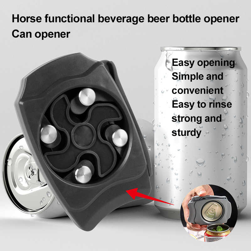 Can Opener Screw Cap Safety Easy Manual Tin Opener for Beer Canned Cocktails Energy Drinks