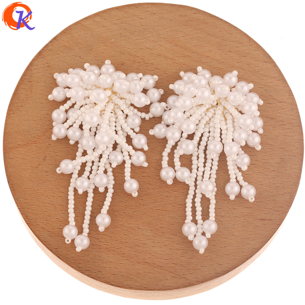 Cordial Design 20Pcs 30*62MM Earring Findings/Jewelry Accessories/Hand Made/Imitation Pearl/DIY Jewelry Making/Seed Bead Charms