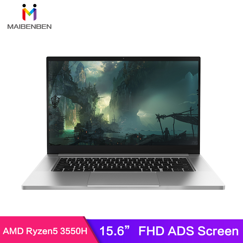 Laptop T536 AMD Ryzen5 3550H Radeon Vega 8 Graphics 15.6 Inch FHD1920*1080 ADS Screen CNC All Metal Body Backlit Keyboard