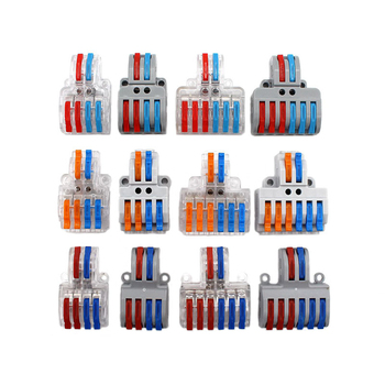 SPL-42 62 Wire Connector Electrical Wire Splitter Universal Wiring Cable Terminal Block Conductor LED Strip T Quick Conectors tb1504 1pcs dual row barrier screw terminal block strip wire connector fixed wiring board 600v 15a