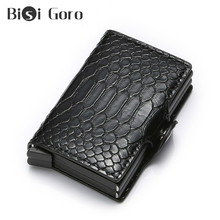 BISI GORO Men And Women Rfid Wallet Money Bag Aluminium Double Box for Credit Card Small Smart Pocket Short Walet