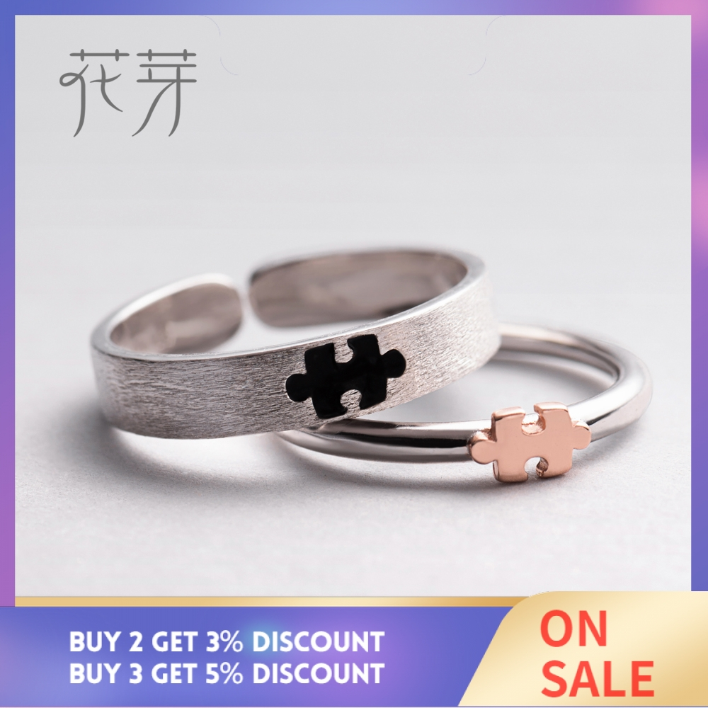 Image 2 - Thaya Rose Gold 3d Puzzle Rings Bijoux En Argent 925 Engagement Finger Ring For Women Gift Handmade Jewelry Bijoux Femme-in Rings from Jewelry & Accessories