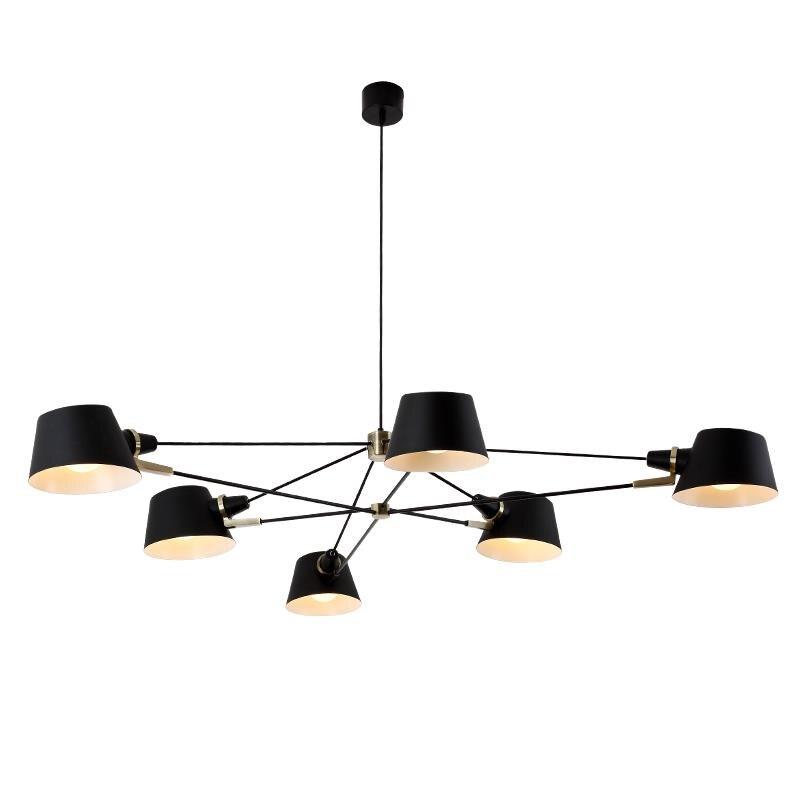 Image 4 - Nordic Chandelier Lighting/Lamp  Modern Living Room Hanging Light Fixture  Black Suspension Lamps For Dinning Room Bedroom-in Chandeliers from Lights & Lighting