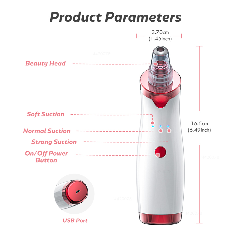 Blackhead Remover Face Deep Nose Cleaner T Zone Pore Acne Pimple Removal Vacuum Suction Facial Diamond Beauty Clean Skin Tool 2