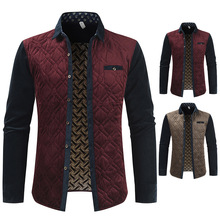 2020 秋 & 冬の新到着男性の暖かいシャツ厚い中年男性シャツスリムジャケットカーディガンシャツ送料無料
