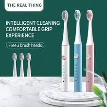 Ensemble de têtes de rechange pour adulte, brosse à dents électrique Ultra sonique Rechargeable et étanche pour le blanchiment des dents