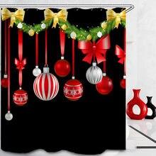 Рождественская занавеска для душа и новогодняя елка Подарочный