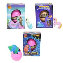 Hatching Dinosaur Egg Toy Puzzle Ball Unicorn Child Novelty Funny Magic Resurrection Water Pet Animal
