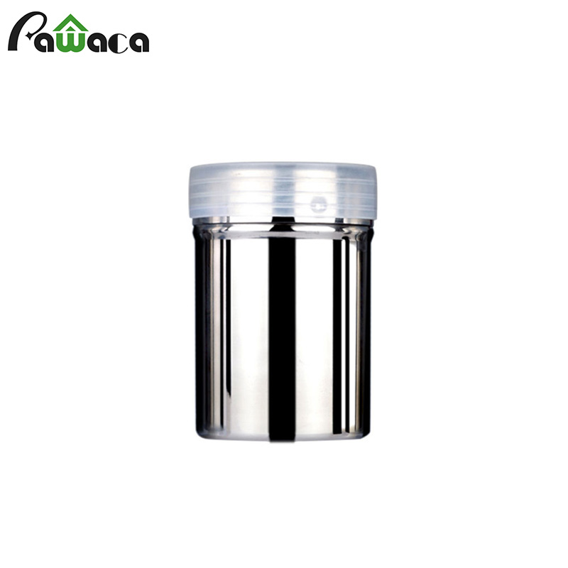 Stainless Steel Chocolate Shaker Cocoa Flour Icing Sugar Dusters Powder Coffee Sifter Lid Shaker Cooking Tool Coffee Accessories|Coffee Stencils| |  - title=