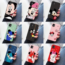lovers cute mouse Soft TPU Cases For iPhone 6S 8 7 Plus 11 Pro Max Matte Back For iPhone X XS Max XR Cartoon Phone Capa Coque
