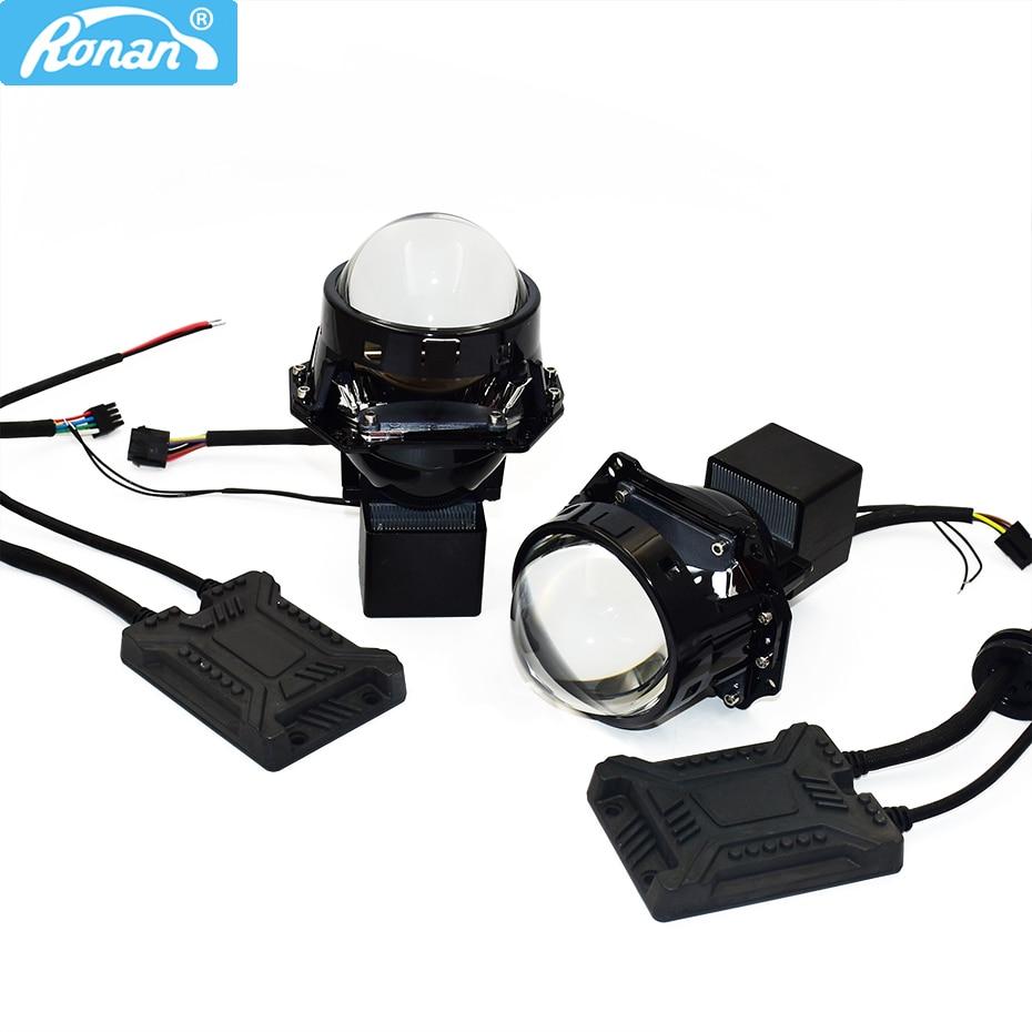 Ronan 3.0 BiLED Projector Lens Headlight Bottom Removable 6000K Car LED Projector Headlight For Car Motorcycle Headlamp Retrofit