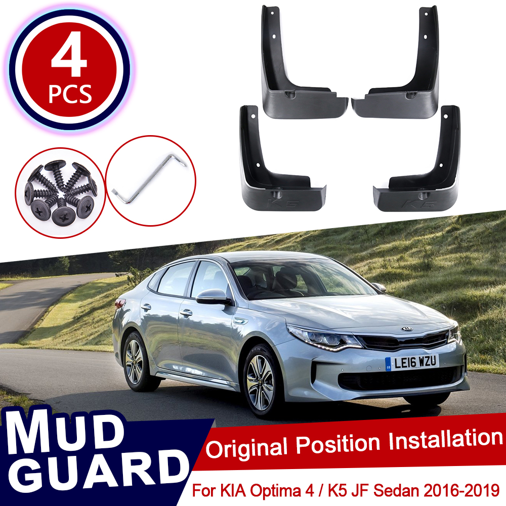 4Pcs Set for KIA Optima 4 K5 JF 2016 2017 2018 2019 Mudflaps Mud Flaps Flap Splash Guards Mudguards Car Wheel Fender Front Rear image