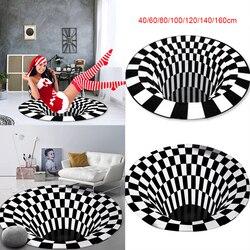 3D Vortex Illusion Rugs Swirl Print Optical Illusion Areas Rug Carpet Floor Pad Non-slip Doormat Mats for Home Dropshipping