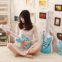 60cm plush simulation guitar stuffed soft Pillow good quality toy cool lifelike festival Christmas birthday gift for kid(China)