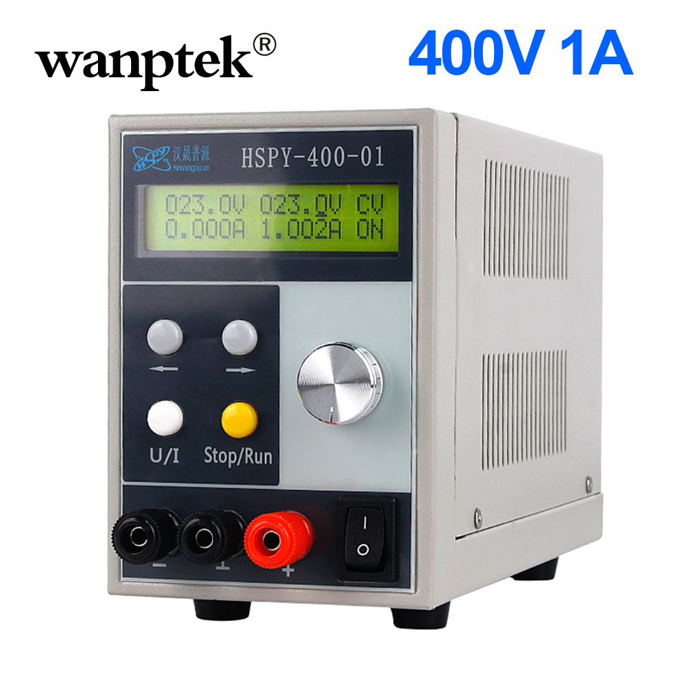 HSPY <font><b>400V</b></font> 1A <font><b>4</b></font>-digits DC Lab Switching Power Supply Laboratory Adjustable 0.01V 0.001A Programmable 120V 1A Bench Source Digital image
