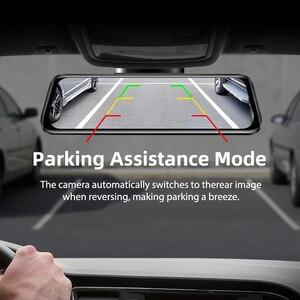 """Image 5 - Azdompg02 10 """"مرآة تعمل باللمس اندفاعة كام تدفق الوسائط ADAS عدسة مزدوجة عكس الكاميرا للرؤية الليلية 1080P مسجل السيارة ل Uber"""