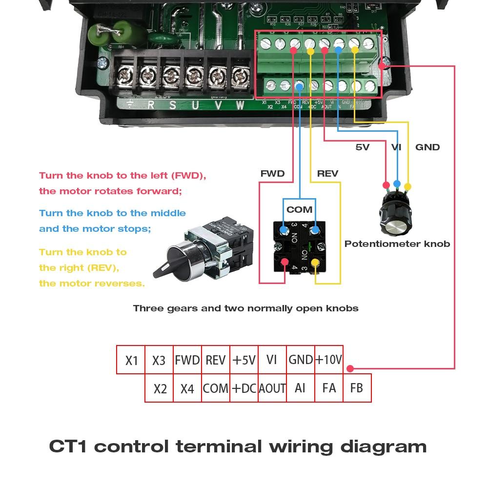 CT1控制端子接线示意图