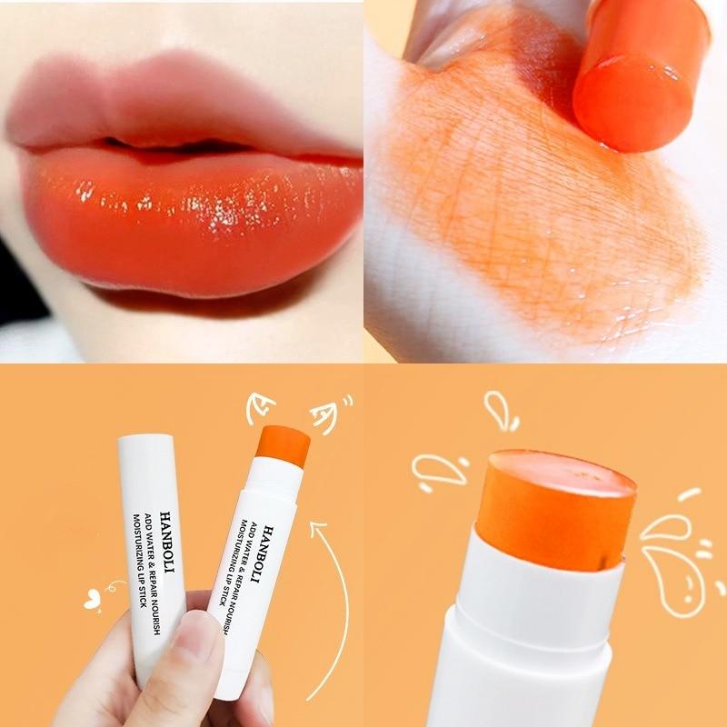 Magic Color Lipstick Orange Strawberry Moisturizing Lip Balm Lasting Nourishment and Protection Lip Care Makeup Cosmetics