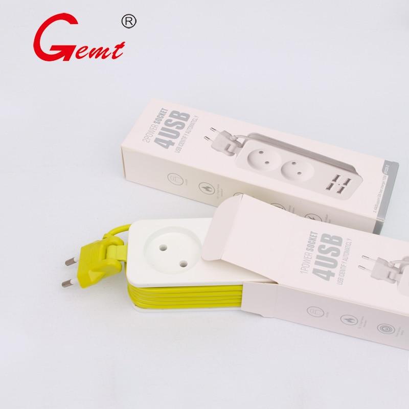 EU 1  2 Electrical Socket  Portable Power Strip EU Plug With 4 USB Port QC2.0 Interface Extension Socket Plug With EU For Travel