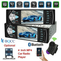 Bluetooth Stereo 1Din Car Radio Vedio audio MP3/MP4/MP5/FM Remote Control Support Rear View Camera 4022D Autoradio 4.1 Inch