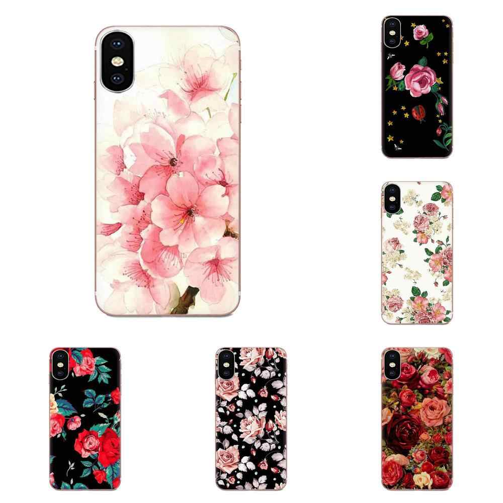 Flowers Floral Rose Plant Peony For Huawei Nova 2 V20 Y3II Y5 Y5II Y6 Y6II Y7 Y9 G8 G9 GR3 GR5 GX8 Prime 2018 2019