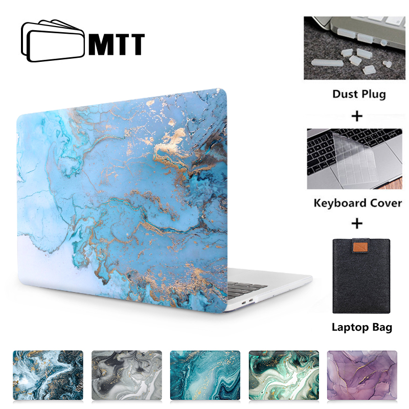 MTT Case For Macbook Air 11 13 Pro Retina 12 13 15 Inch Touch Bar Marble Texture Laptop Sleeve For Macbook Apple Pro 13.3 Cover