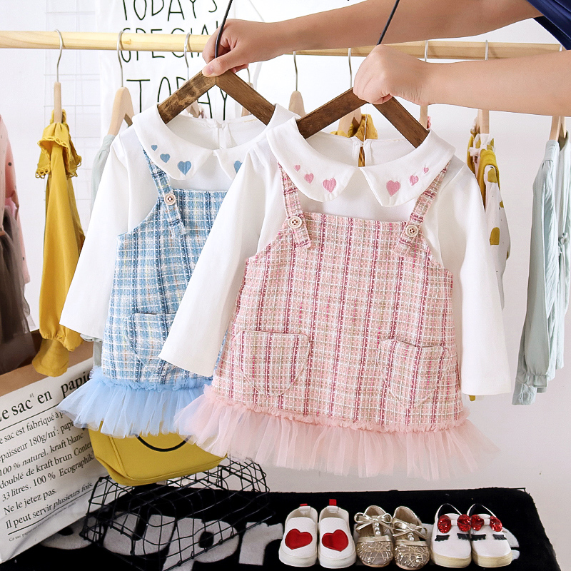 Melario Baby Girl Dress Autumn Long Sleeve Princess Dress for Girl Kids Dress Cartoon Bunny Ear Dress with Bag for 6-24M