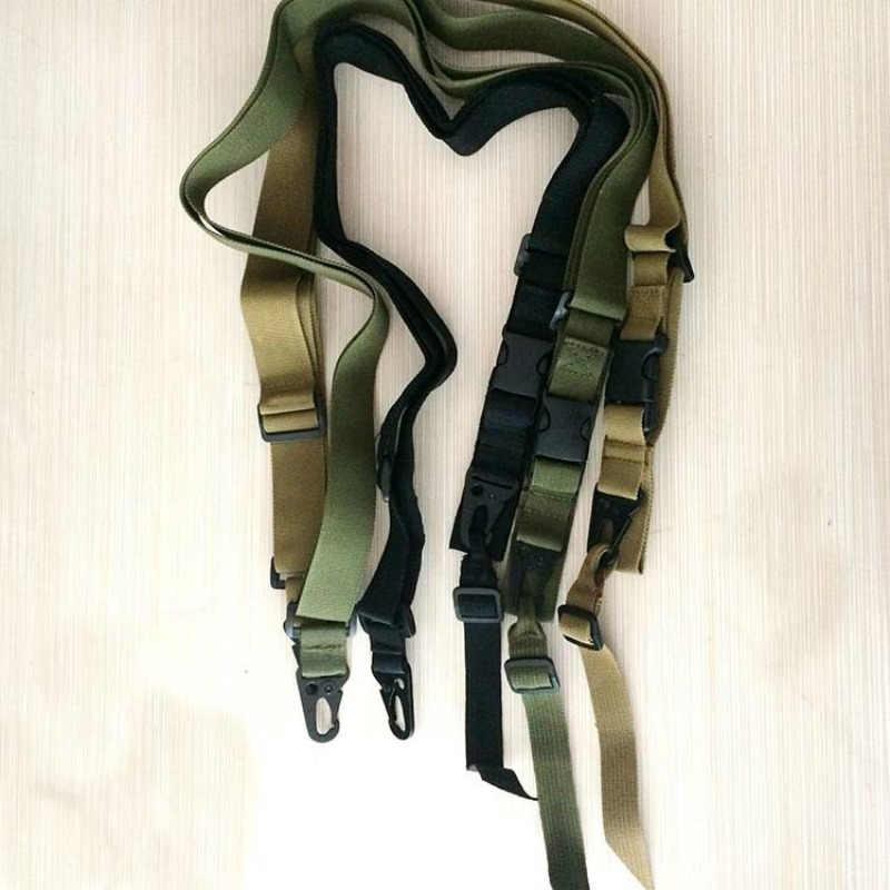 3 Point Airsoft Jacht Riem Tactische Militaire Elastische Gear Gun Sling Strap Outdoor Camping Survival Sling Multifunctionele Riem
