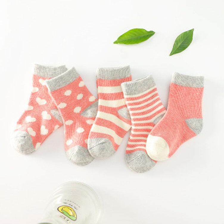 Medium And Small Children's Socks Baby Socks Pure Cotton Tube CHILDREN'S Socks Cotton