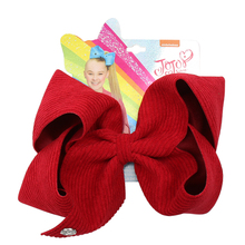 7 Jojo bows/Jojo Siwa Large Hair Bows for Girls Clips Handmade Solid Corduroy Velvet Pin Party Kids Accessories