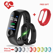 M3  Smart Wristband Bracelet Fitness Tracker M3plus Band Heart Rate Activity Sport Watch For men