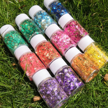 10ml/jar 3D Mermaid Nail Glitter Holographic Sequins Flakes Gel Polish Glitters Shiny Paillette Sticker Nail Art Decorations image