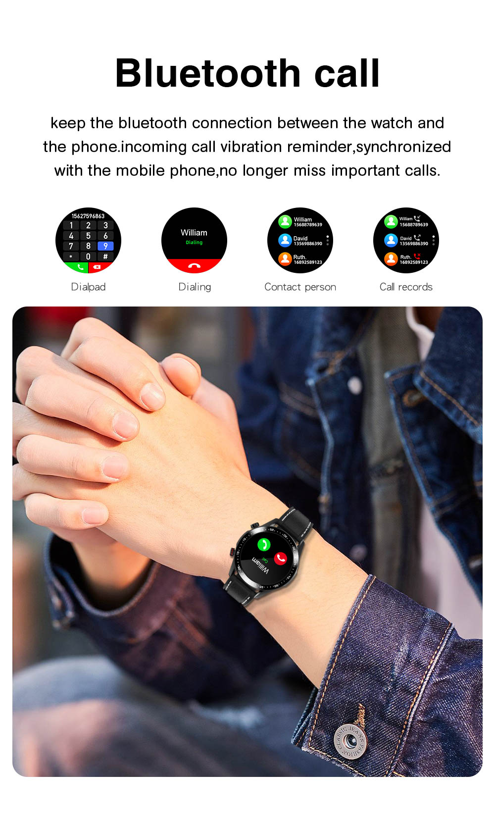 H74ef2c03946548dd88886c9fd573b8d2i E1-2 Smart Watch Men Bluetooth Call Custom Dial Full Touch Screen Waterproof Smartwatch For Android IOS Sports Fitness Tracker