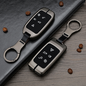 Metal Car Key Case Cover For Land Rover A9 Range Rover Sport 4Evoque Freelander 2 Discovery 1 3 4 for Jaguar XE XJ XJL XF C-X16 4 3 a9