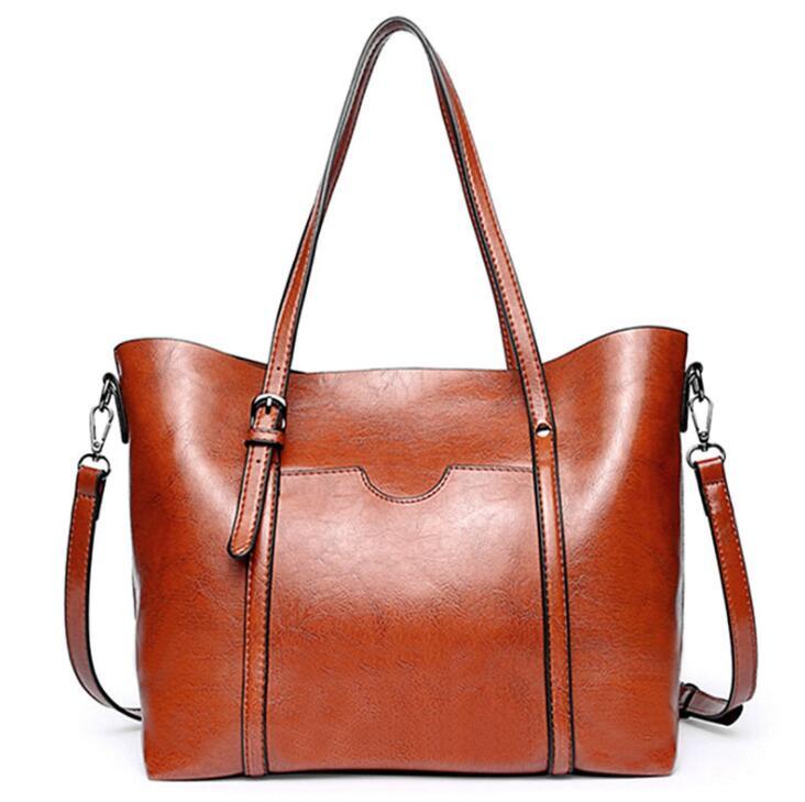 Sacs pour femmes européennes et américaines sacs fourre-tout grande capacité 2020 nouveaux sacs à main en cuir à l'huile sacs pour femmes simple épaule messager