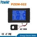 PowMr PZEM AC 6in1 220V100A однофазный цифровой амперметр мощность энергии Вольтметр Амперметр вольт ватт кВтч фактор Метр Сплит CT