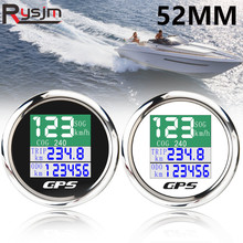 52 мм 2 дюйма водонепроницаемый TFT экран GPS Спидометр Одометр поездка COG Цифровой Автомобильный спидометр для морской лодки с GPS антенной 9-32 в