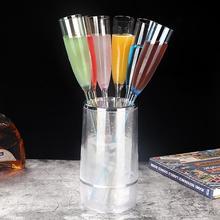 6 Pcs Colour Goblet Beach Cup Bar Wedding Glasses KTV Party Champagne Cocktail Wine Glass Tumbler Doom