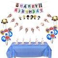 82 шт./лот Мальчики выступает Beyblade Burst тема торт топпера, флаг Baby Shower таблички с трубочкой для дня рождения вечерние украшения Скатерть