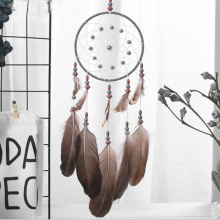 Dreamcatcher Feather-Decoration Wall-Hanging Circular Retro Vintage Creative for Classmate
