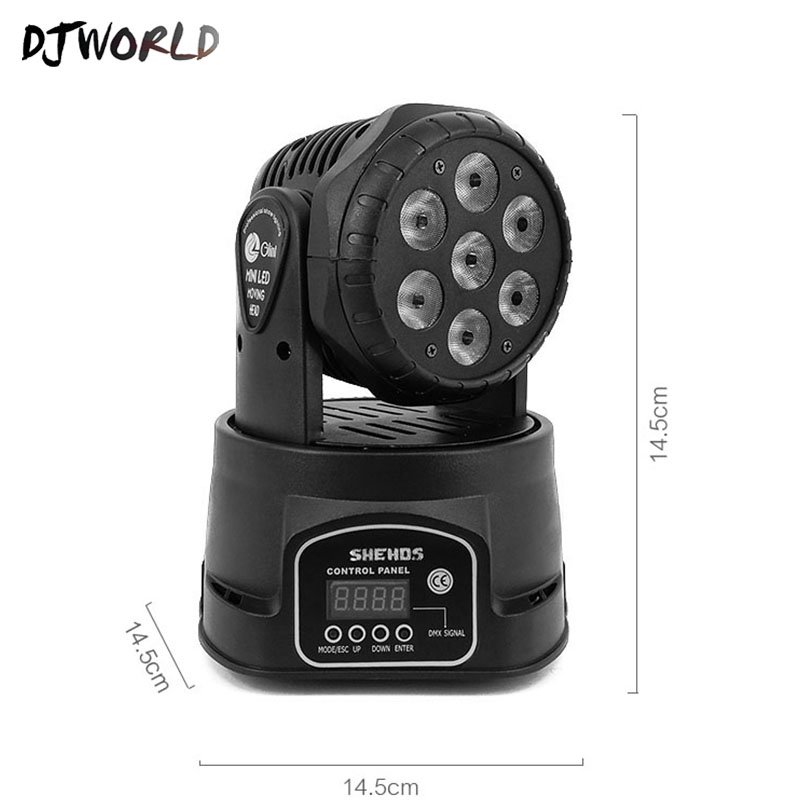 Image 5 - Djworld LED 7X18W Wash Light RGBWA+UV 6in1 Moving Head Stage Light DMX Stage Light DJ Nightclub Party Concert Stage Professional-in Stage Lighting Effect from Lights & Lighting on