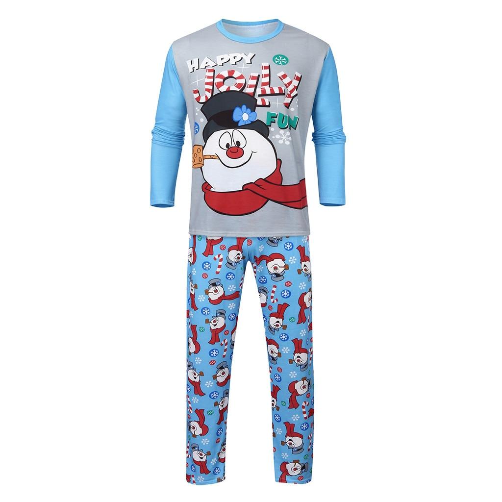 Fashion Men's Sets Christmas Man Daddy Printed Letter Top+ Print Pants Xmas Family Clothes Pajamas Men's Clothing Drop Shipping