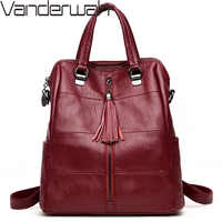 3-em-1 mochilas de couro feminino clássico bolsa de ombro saco de viagem das senhoras bagpack sacos de escola para meninas preppy
